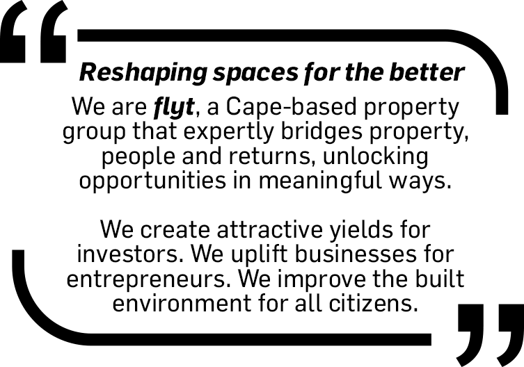 Flyt - A Cape-based property investment group that bridges property, people and returns.